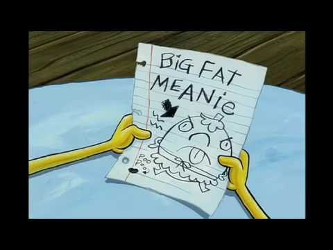 Spongebob SquarePants Big Fat Meanie To : Mrs Puffs