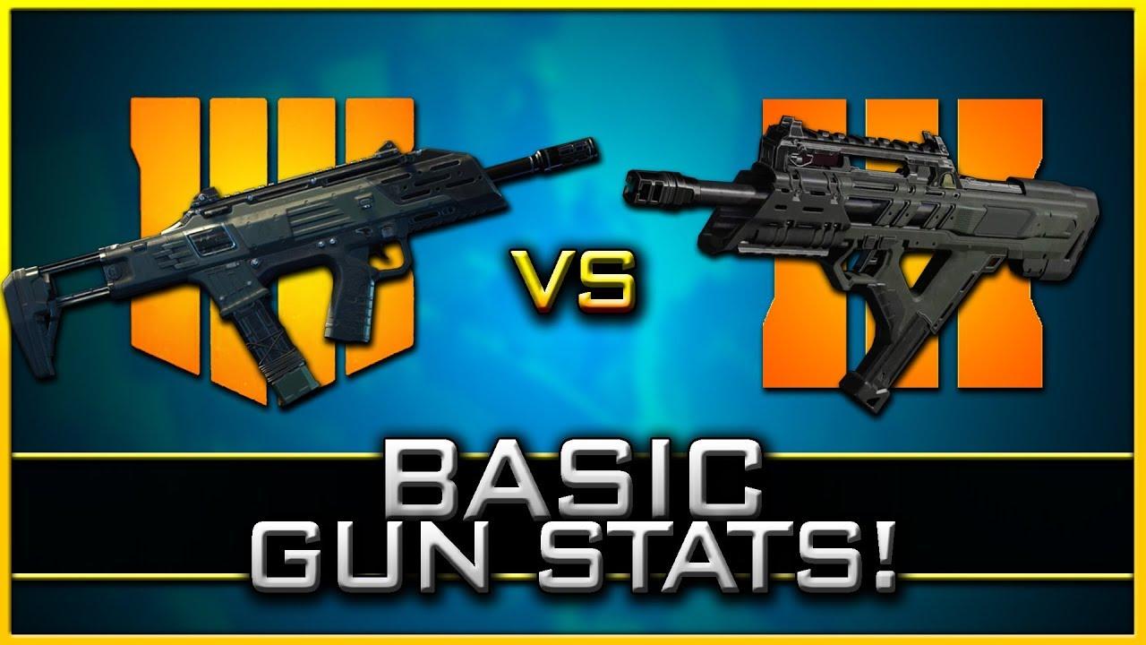 Black Ops 4 Basic Gun Stats & BO3 Counterparts! (Beta Stats)