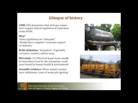 Webinar: Oil and Gas Waste, what it is and why it matters