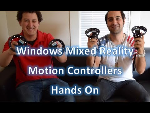 Motion Controllers for Windows Mixed Reality | Unboxing, Hands On, and First Impressions Review