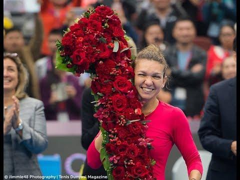 The MOMENT SIMONA HALEP (ROU) becomes WTA WORLD No.1 🎾 Numero UNO del Mundo  🐼 Oct.  2017 China Open