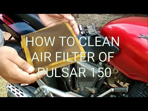 HOW TO CLEAN AIR FILTER OF PULSAR 150 (IN HINDI)