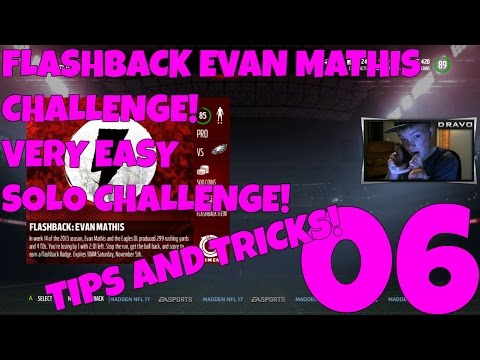 90 OVERALL FLASHBACK EVAN MATHIS! 85 OVERALL EAGLES CHALLENGE! - MUT 17 SOLO CHALLENGES EP 6