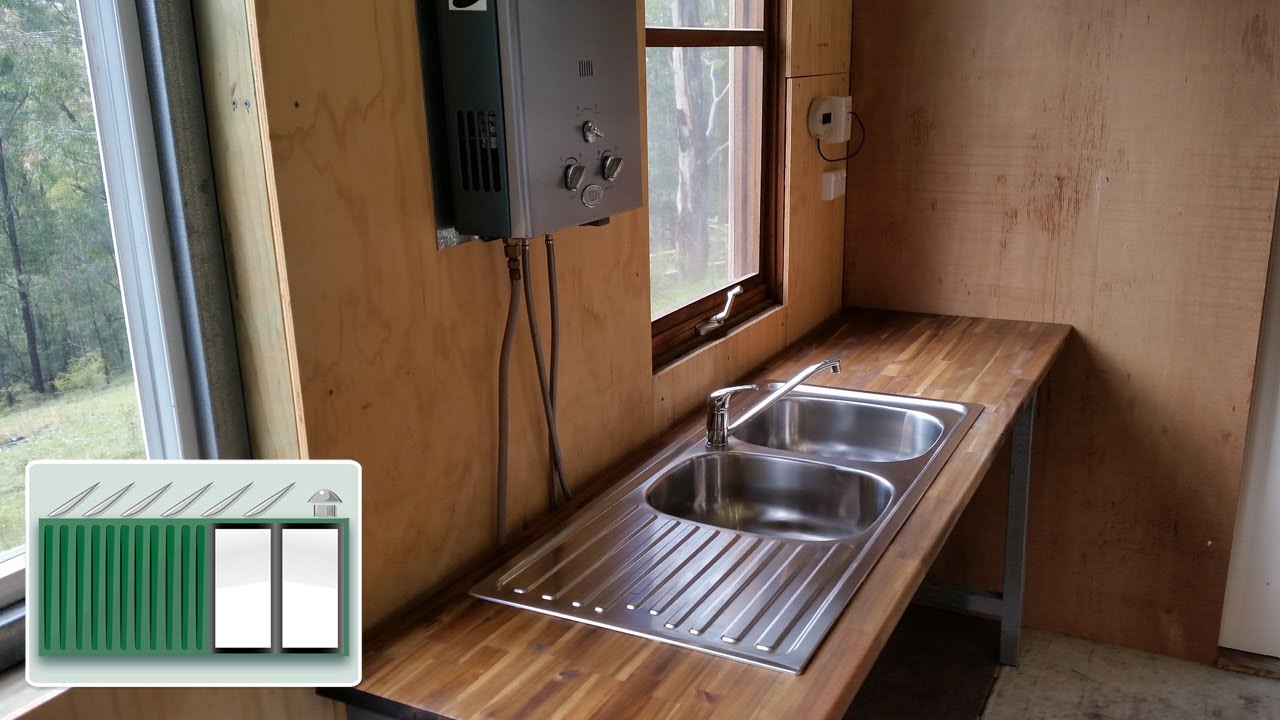 Shipping Container House New Kitchen Sink Youtube