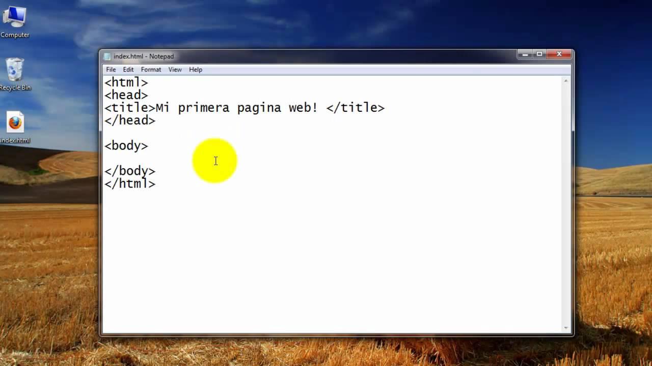 Como Crear Una Pagina Web Completa En Html 1