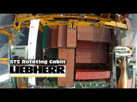 Rotating STS Gantry Crane DUAL CAM 90 degrees Left+Right Cabin and Joystick view GoPro