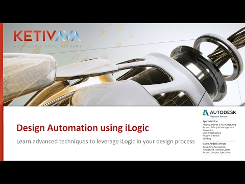 iLogic Design Automation Part 1 | Autodesk Virtual Academy