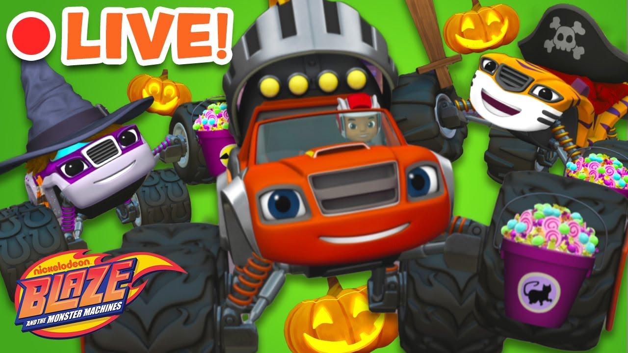 Download 🔴 LIVE: Blaze and Friends Halloween Marathon! | Blaze and the Monster Machines