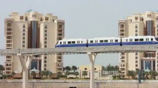 Visiting Palm Jumeirah, Island in Dubai, United Arab Emirates