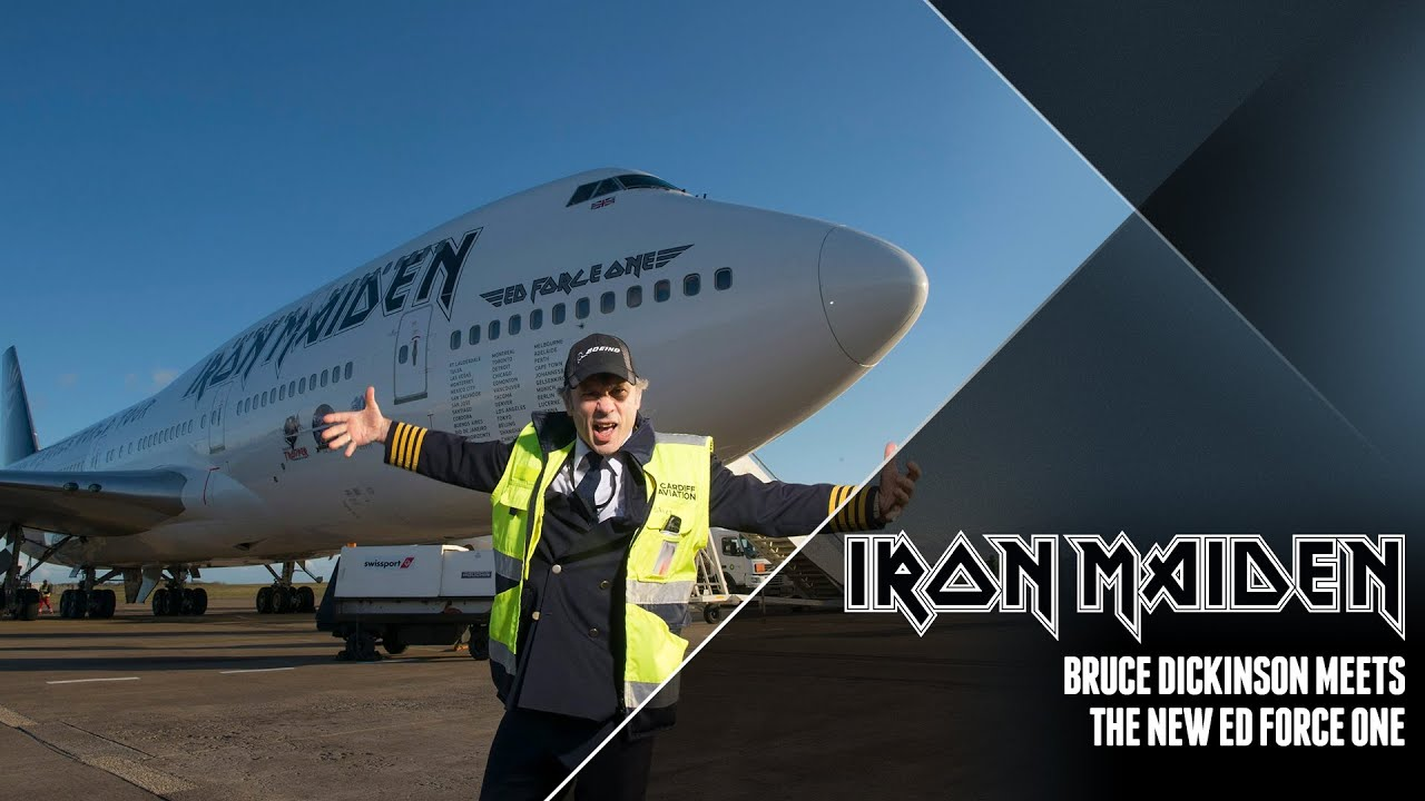 iron maiden - bruce dickinson meets the new ed force one - youtube