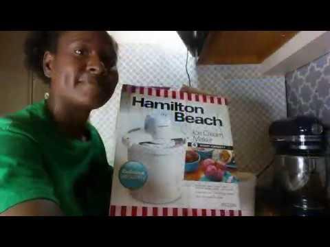 Vanilla Ice Cream In Hamilton Beach Ice Cream Maker (NON DAIRY)