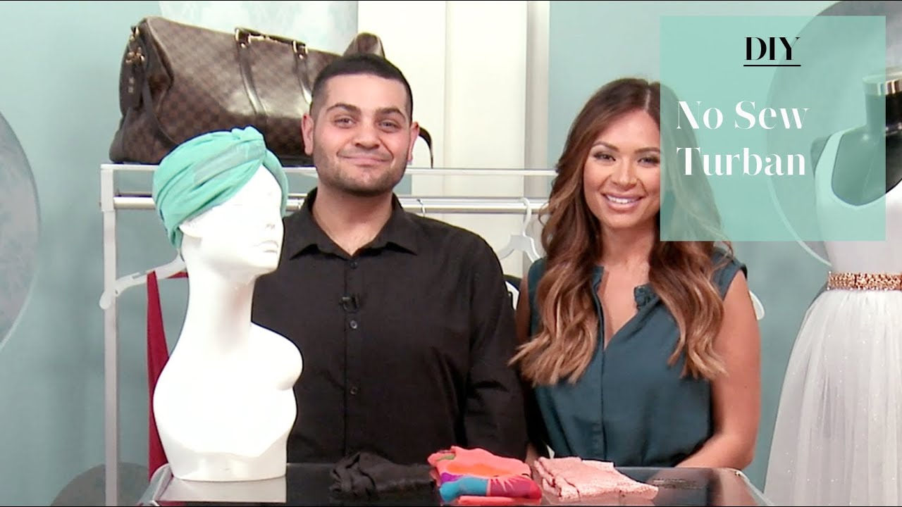Diy no sew turban with michael costello youtube diy no sew turban with michael costello baditri Images