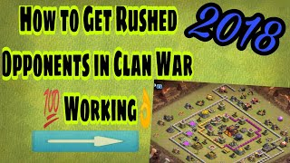 How to get easy opponent in wars | clash of clans war winning strategy | clash of clans 2018 | Hindi
