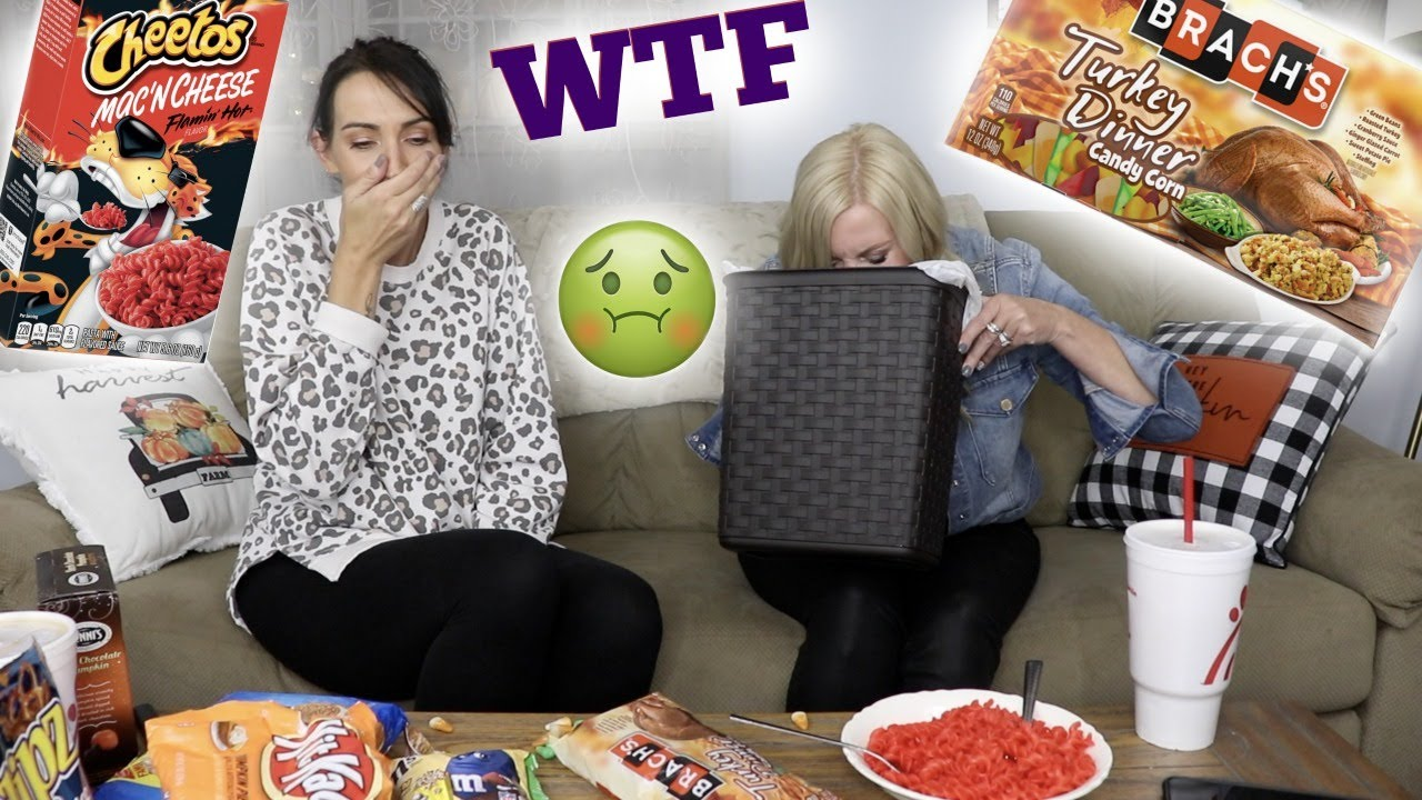 Download TRYING WEIRD/LIMITED EDITION FALL FOODS WITH MY BEST FRIEND!! **GAG/PUKE WARNING