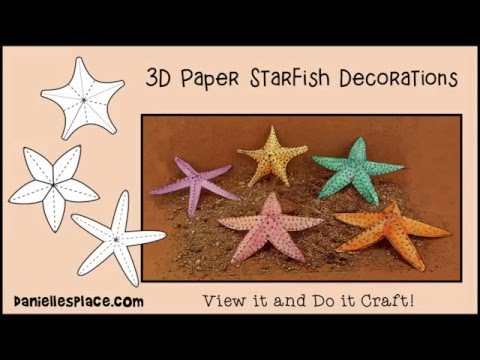 Starfish Paper Craft Decorations - View It And Do It Craft!