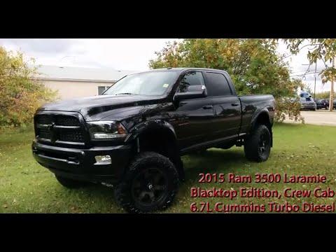 2015 Ram 3500 Laramie Blacktop Edition 6 7l Cummins Turbo Diesel