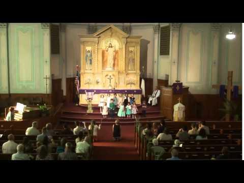 Immanuel Lutheran Preschool and Kindergarten Sing  - Palm Sunday 2015