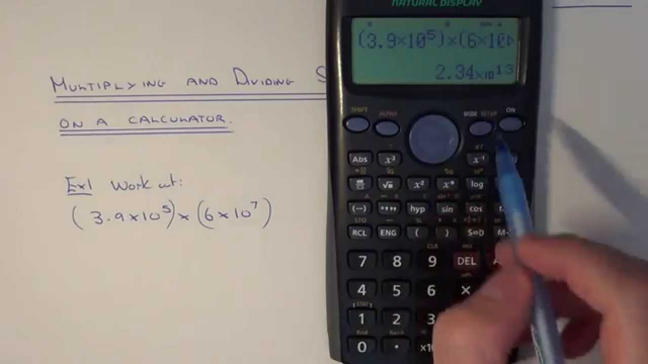 Using a calculator to multiply and divide numbers written in using a calculator to multiply and divide numbers written in standard index form falaconquin