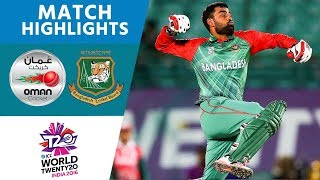 Bangladesh Comfortably Reach Super 10s | Bangladesh vs Oman | ICC Men's #WT20 2016 - Highlights