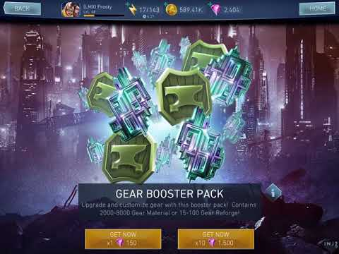 Injustice 2 mobile - Buying gear booster packs and working on MVBL