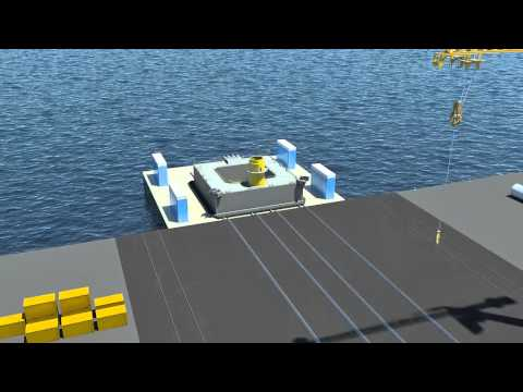 IDEOL floating foundation for offshore wind turbine