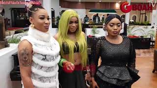 Check Out Tonto Dikeh, Bobrisky Full Outfit That Got People Talking At Actress Abubakar Premiere