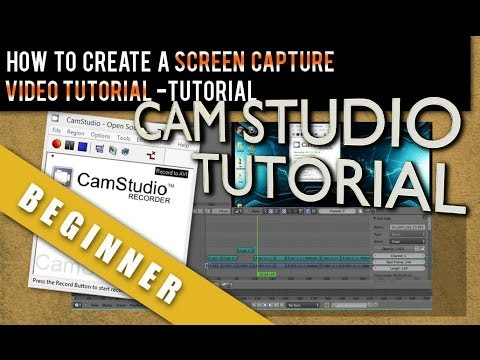 How To Create a Screen Capture Video Tutorial using Camstudio 2.6 and Blender 2.69