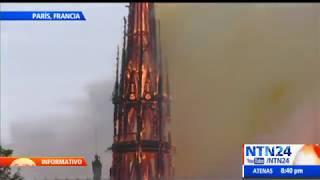 #AHORA | Fuerte incendio consume parte de la catedral de Notre Dame