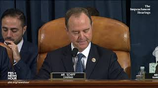 WATCH: Rep. Schiff's full opening statement in Trump impeachment hearing with Vindman and Williams