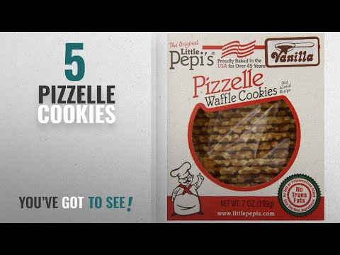 Best Pizzelle Cookies [2018]: Little Pepis Pizzelles, Vanilla, 7 Ounce