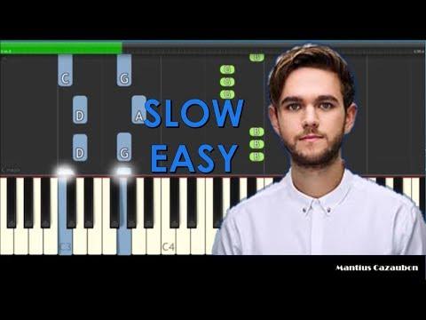 Zedd, Maren Morris, Grey - The Middle Slow Easy Piano Tutorial