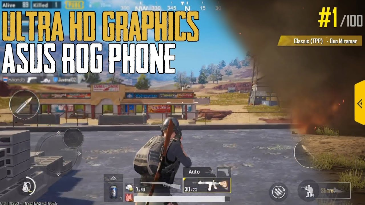 Pubg Ultra Hd Apk: ULTRA HD GRAPHICS ON ASUS ROG PHONE