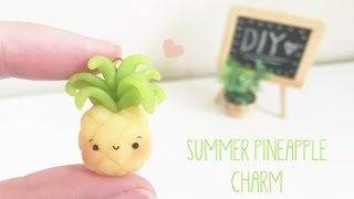 Diy Summer Pineapple Charm Bracelet - Polymer Clay