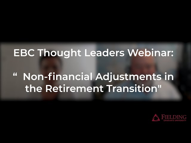 #CoachingWebinar Non-financial Adjustments in the Retirement Transition