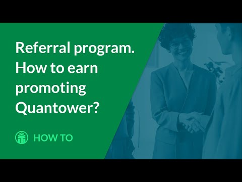 Referral program. How to earn promoting Quantower?