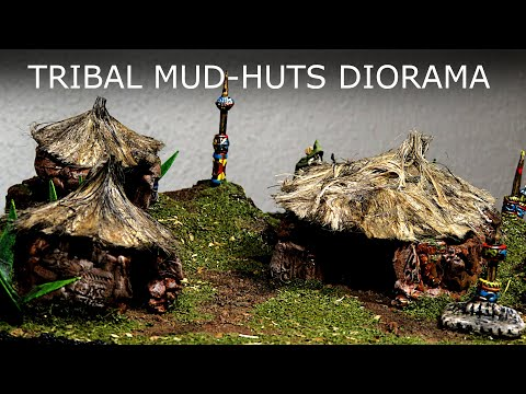 A MESSY Way To Make Terrain For D&D - Mud-Huts Diorama