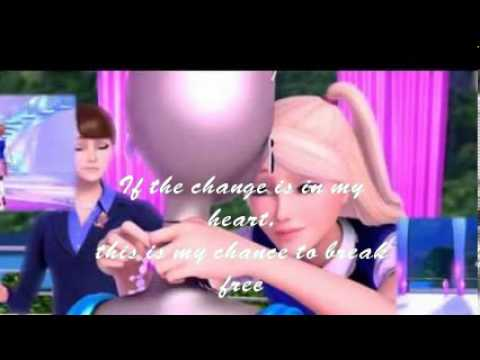 Barbie In Princess Charm School-On Top Of The World-lyrics(HQ remake)-Full song -Rachel Bearer