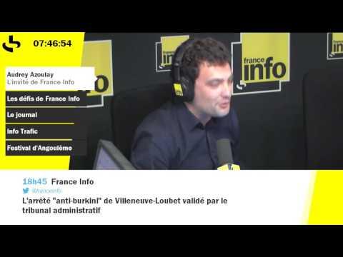 "Audrey Azoulay ""pas surprise"" par la candidature de Nicolas Sarkozy"