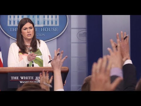 Thumbnail: Watch reporters clash with Sanders during the White House briefing