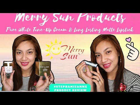 pure-white-tone-up-cream-&-long-lasting-matte-lipstick-ft.-merry-sun-products