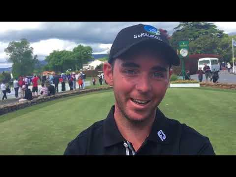 Charlie Dann after final round of the 2017 Asia-Pacific Amateur Championship in New Zealand