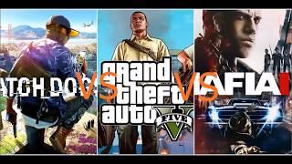 Watch Dogs 2 vs GTA 5 vs Mafia 3 -  comparação