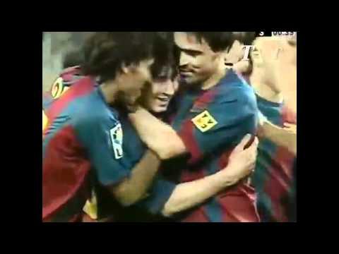 Lionel Messi Debut For Barcelona [16-05-2003] [Offside Goal & Official Goal]