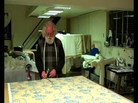 Repeat match - Louth curtain maker shows how to measure curtains for the perfect repeat match