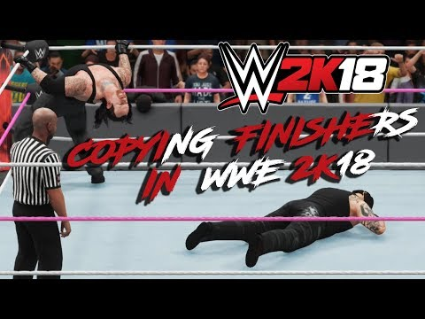 STEALING/ COPYING OPPONENT'S FINISHER IN WWE 2K18 : UHD 60FPS