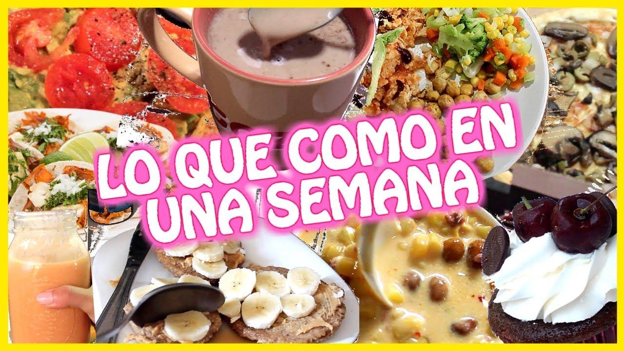 lo que comí en una semana edición cuarentena