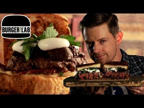 Beer & Cheese Brit Burger - Burger Lab
