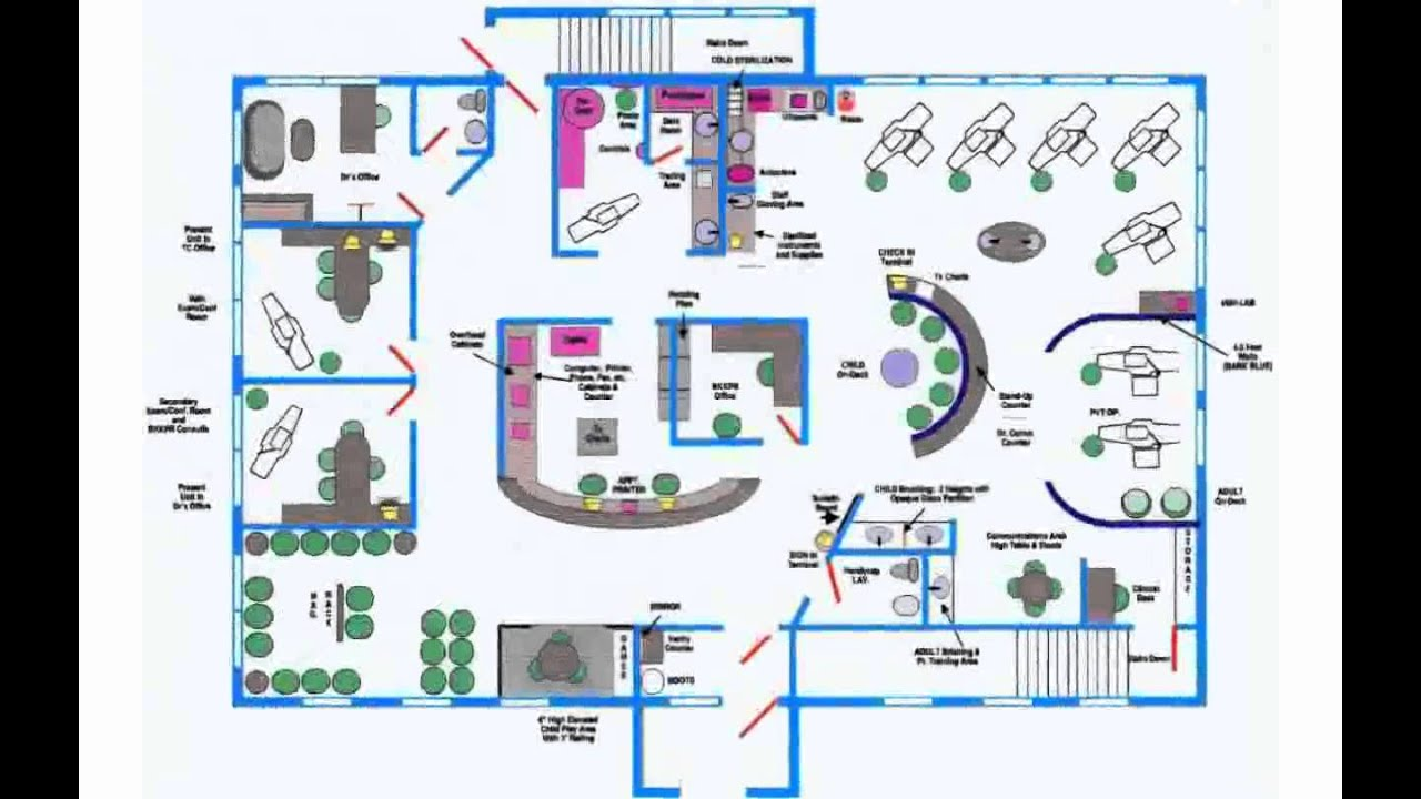Office design layout youtube for Office layout plan design