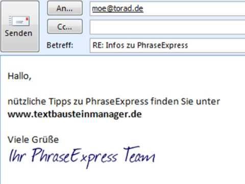 Emailsignatur Mit Handschrift Youtube