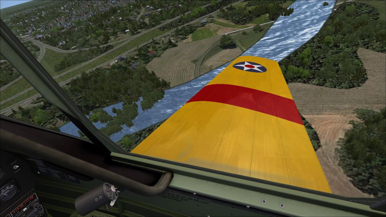 First flight with Orbx Trees HD in an A2A Simulations T-6